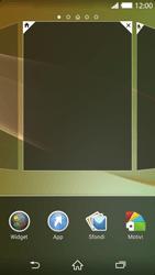 Sony Xperia Z2 - Operazioni iniziali - Installazione di widget e applicazioni nella schermata iniziale - Fase 4