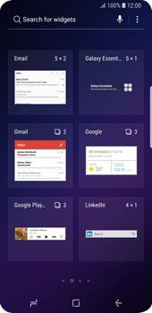 Samsung Galaxy S9 - Getting started - Installing widgets and applications on your start screen - Step 4