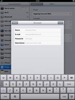 Apple iPad Retina - E-mail - Configurazione manuale - Fase 7
