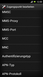 Sony Xperia J - MMS - Manuelle Konfiguration - Schritt 13