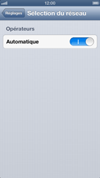 Apple iPhone 5 - Réseau - sélection manuelle du réseau - Étape 6