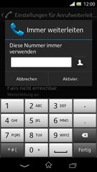 Sony Xperia L - Anrufe - Rufumleitungen setzen und löschen - 7 / 9