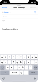 Apple iPhone XR - E-mails - Envoyer un e-mail - Étape 6
