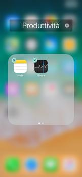 Apple iPhone X - Operazioni iniziali - Personalizzazione della schermata iniziale - Fase 5