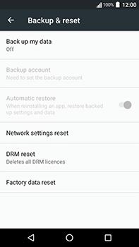 Acer Liquid Zest 4G Plus - Device - Factory reset - Step 6