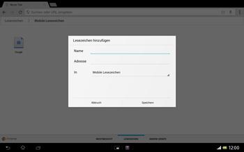 Sony Xperia Tablet Z LTE - Internet und Datenroaming - Verwenden des Internets - Schritt 13
