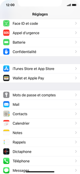 Apple iPhone X - iOS 12 - E-mail - Configuration manuelle - Étape 3