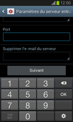 Samsung I8260 Galaxy Core - E-mail - Configuration manuelle - Étape 11