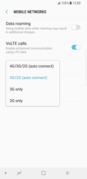 Samsung Galaxy S8 - Android Oreo - Network - Enable 4G/LTE - Step 7