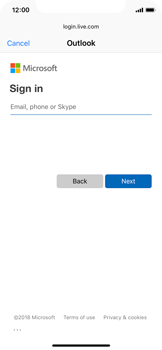 Apple iPhone XS - E-mail - 032c. Email wizard - Outlook - Step 6