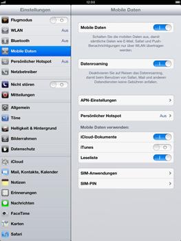 Apple iPad mini - Internet und Datenroaming - Deaktivieren von Datenroaming - Schritt 4