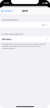 Apple iPhone X - iOS 13 - E-mail - configuration manuelle - Étape 17