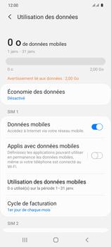 Samsung Galaxy S20 5G - Internet et roaming de données - Comment vérifier que la connexion des données est activée - Étape 7