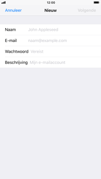 Apple iPhone 6 Plus - iOS 11 - E-mail - Account instellen (POP3 zonder SMTP-verificatie) - Stap 7