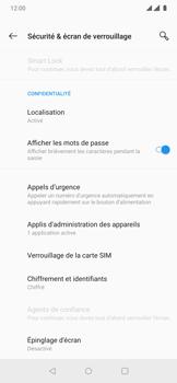OnePlus 7 Pro - Sécuriser votre mobile - Personnaliser le code PIN de votre carte SIM - Étape 5