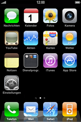 Apple iPhone 3GS - WLAN - Manuelle Konfiguration - Schritt 1