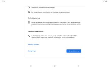 Samsung Galaxy Tab S7 - Apps - Einrichten des App Stores - Schritt 14