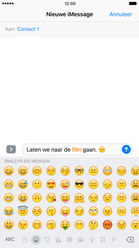 Apple Apple iPhone 6 Plus iOS 10 - iOS features - Stuur een iMessage - Stap 14