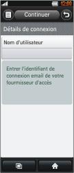 LG BL40 New Chocolate - E-mail - Configuration manuelle - Étape 6