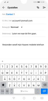 Huawei Y5 (2019) - E-mail - e-mail versturen - Stap 8