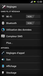 Sony ST26i Xperia J - Messagerie vocale - configuration manuelle - Étape 5