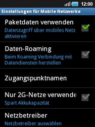 Samsung S5570 Galaxy Mini - Netzwerk - Netzwerkeinstellungen ändern - Schritt 6