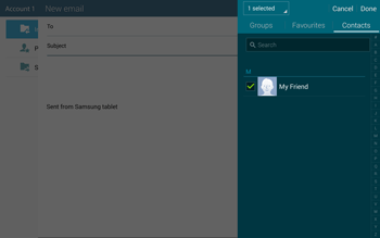 Samsung T805 Galaxy Tab S - E-mail - Sending emails - Step 7