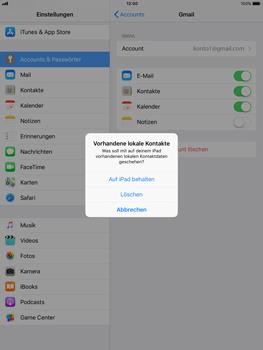 Apple iPad Pro 9.7 inch - Kontakte - Sicherheitskopie des Geräts mit OS-Konto erstellen - 1 / 1