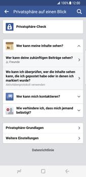 Samsung Galaxy S8 - Datenschutz und Sicherheit - Datenschutzeinstellungen von Facebook ändern - 2 / 2