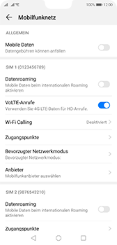 Huawei P20 - Android Pie - WiFi - WiFi Calling aktivieren - Schritt 6
