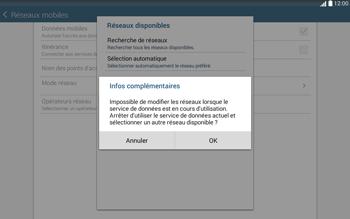 Samsung T535 Galaxy Tab 4 10.1 - Réseau - Sélection manuelle du réseau - Étape 10