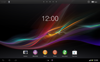 Sony Xperia Tablet Z LTE - E-mail - Manual configuration - Step 1