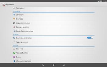 Sony Xperia Tablet Z2 LTE - Dispositivo - Ripristino delle impostazioni originali - Fase 5