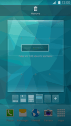 Samsung Galaxy S 5 - Getting started - Installing widgets and applications on your start screen - Step 6