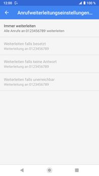 Sony Xperia XZ2 Premium - Android Pie - Anrufe - Rufumleitungen setzen und löschen - Schritt 11
