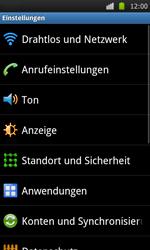 Samsung Galaxy S - WLAN - Manuelle Konfiguration - 4 / 10