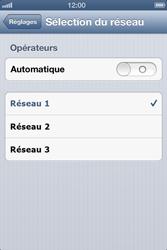 Apple iPhone 4S - Réseau - Sélection manuelle du réseau - Étape 8