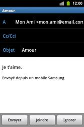 Samsung S5830i Galaxy Ace i - E-mail - envoyer un e-mail - Étape 9
