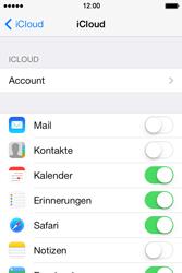 Apple iPhone 4S iOS 7 - Apps - Konfigurieren des Apple iCloud-Dienstes - Schritt 8