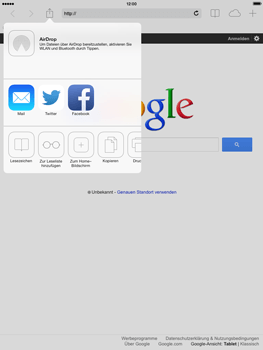 Apple iPad Air - Internet und Datenroaming - Verwenden des Internets - Schritt 6