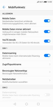 Huawei Mate 10 Lite - Ausland - Im Ausland surfen – Datenroaming - Schritt 9