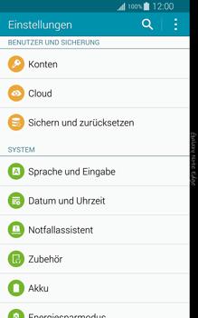 Samsung Galaxy Note Edge - Gerät - Zurücksetzen auf die Werkseinstellungen - Schritt 4