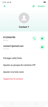 Oppo Reno 2 - Contact, Appels, SMS/MMS - Ajouter un contact - Étape 12