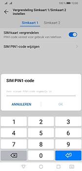 Huawei Mate 20 - Beveiliging - Stel de pincode voor je simkaart in - Stap 13