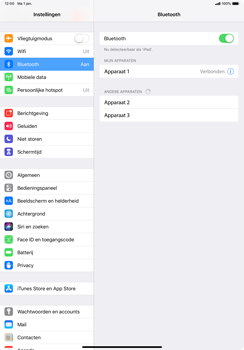 Apple ipad-pro-11-inch-2018-model-a1934 - Bluetooth - Headset, carkit verbinding - Stap 6