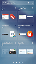 Samsung Galaxy A5 (2017) - Startanleitung - Installieren von Widgets und Apps auf der Startseite - Schritt 5