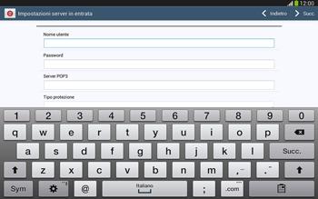 Samsung Galaxy Tab 3 10-1 LTE - E-mail - configurazione manuale - Fase 8
