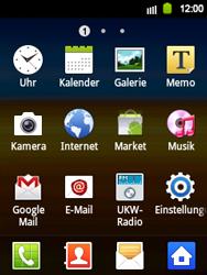 Samsung Galaxy Y - Internet und Datenroaming - Verwenden des Internets - Schritt 3