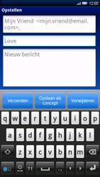 Sony Xperia X10 - E-mail - E-mails verzenden - Stap 7