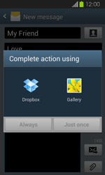 Samsung I8730 Galaxy Express - MMS - Sending pictures - Step 14
